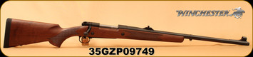 "Winchester - 375H&H - Model 70 Safari Express - Grade I Walnut w/Deluxe Cheekpiece/Matte Blued, 24""Barrel, Fully Adjustable rear sight, hooded front sight, Mfg# 535204161, S/N 35GZP09749"