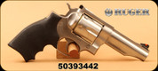 """Ruger - 44RemMag - Redhawk - Revolver - Hogue Rubber Grips/Satin Stainless Steel Finish, 4.20"""" Barrel, 6 Rounds, Mfg# 05026 - Unfired showroom model"""