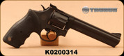 """Taurus - 357Mag - Model 66 - Double Action Revolver - Soft Rubber Grip/Matte Black Finish, 6"""" Barrel, Fixed Front/Adjustable Rear Sights"""