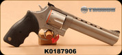 "Taurus - 44Mag - Model 44 - Double Action Revolver - Rubber Grip/Matte Stainless Steel Finish, 6.5"" Ported Barrel, 6 Rounds, Fixed Front Sight/Adjustable Rear Sight, Mfg# 2440069 - Unfired, Showroom Model"