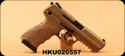 "H&K - 45ACP - HK45 FDE (V1) - SA/DA - Semi Auto - Flat Dark Earth Cerakote - Lipsey's Exclusive, 4.53""Barrel, 2 mags, Mfg# 745001LIPA5 - Unfired Showroom Model"