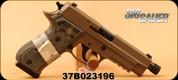 "SIG Sauer - 45ACP - P220 Scorpion Elite - Semi Auto Handgun - G10 Parana Grips/Flat Dark Earth Finish, 4.9"" Threaded Barrel, Beavertail SRT Trigger, Night Sights, Mfg# 220R-45-SCPN-TB - Unfired, Showroom model"