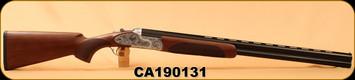 """Huglu - 12Ga/3""""/28"""" - 103FE - O/U - Ejectors - Turkish Walnut/Silver Receiver w/ Gr5 Hand engraving/Blued, SKU# 8681715397849, S/N CA190131"""