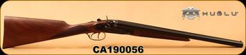 "Huglu - 12Ga/3""/20"" - HRZ - SxS Hammer gun - Turkish Walnut English Grip/Case Hardened/Blued, Chrome-Lined barrels, HRZ Hammer, SKU# 8681744308946, S/N CA190056"