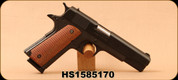 """High Standard - 45ACP - GI 1911 - Lipsey's Exclusive - Checkered Wood Grips/Parkerized Finish, 5""""Barrel, Mfg# HSTX1911 - Unfired showroom model"""