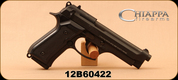 "Chiappa - 22LR - M9-22 - Semi Automatic Handgun - Plastic Grips/Black Finish, 5""Barrel, Windage Adjustable Rear Sight - Unfired, Showroom model"