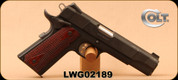 """Colt - 45ACP - XSE Series Government - Semi Auto Pistol - Rosewood Grips Alloy/Anodized Black Finish, 5"""" Barrel, Mfg# 01880XSE - Unfired, Showroom Model"""