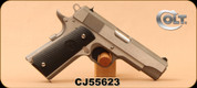 "Colt - 45ACP - 1991 Series 1911 Commander - Semi Auto Pistol - Composite Grip/Stainless Steel Slide and Frame, Brushed Finish, 4.25""Barrel, Mfg# O4091U - Unfired, Showroom Model"