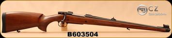 "CZ - 9.3x62 - Model 550 Medium FS - Bavarian-style Mannlicher Turkish Walnut/Blued, 20.5"" Barrel, 5rd fixed magazine, 1:14"", S/N B603504"