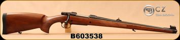 "CZ - 9.3x62 - Model 550 Medium FS - Bavarian-style Mannlicher Turkish Walnut/Blued, 20.5"" Barrel, 5rd fixed magazine, 1:14"", S/N B603538"