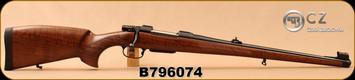 "CZ - 243Win - Model 550 Medium FS - Bavarian-style Mannlicher Turkish Walnut/Blued, 20.5"" Barrel, 4rd detachable magazine, 1:10""Twist, steel muzzle cap, 3-position safety, S/N B796074"