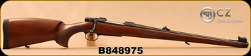 "CZ - 30-06Sprg - Model 550 Medium FS - Bavarian-style Mannlicher Turkish Walnut/Blued, 20.5"" Barrel, 5rd fixed magazine, 1:10"", steel muzzle cap, 3-position safety, S/N B848975"
