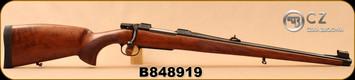 "CZ - 30-06Sprg - Model 550 Medium FS - Bavarian-style Mannlicher Turkish Walnut/Blued, 20.5"" Barrel, 5rd fixed magazine, 1:10"", steel muzzle cap, 3-position safety, S/N B848977"