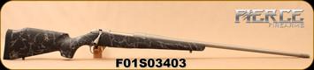 "Fierce - 300RUM - Fury Model - Magnum Action - Black w/Grey Web/Matte Stainless, Match Grade, 26""Barrel, Grey Titanium Stain Cerakote Finish, 42-hole E-Brake, LastGuard Coating, 1:10"", Mfg# 7393, S/N"