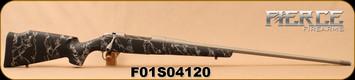 "Fierce - 30Nosler - Edge - Long Action - Black w/Grey Web Carbon Fiber Stock/Grey Titanium, 26""Fluted Barrel, Mfg# 8428, S/N F01S04120"