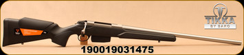 "Tikka - 223Rem - T3x Stainless Varmint - Black modular synthetic stock/Satin Stainless, 23.7""Heavy Barrel, 6rd Magazine, Mfg# TFTT11CL105"