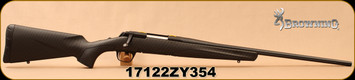 """Used - Browning - 308Win - X-Bolt Stalker - Carbon Fiber Dip Composite Stock/Matte Blued, 22""""Fluted, Free Floated Barrel, Dura-Touch Armor Coat, Detachable Magazine, Mfg# 035278218 - New in box"""