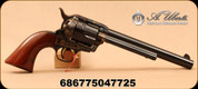 "Uberti - 357Mag - Model 1873 Horseman - Single Action Revolver - 1pc Walnut Grips/Case Hardened Frame/Blued, 7.5""Barrel, Mfg# 1523"