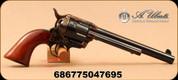 """Uberti - 45LC - Model 1873 Horseman - Single Action Revolver - 1pc Walnut Grips/Case Hardened Frame/Blued, 7.5""""Barrel, Mfg# 1520"""