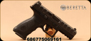 Beretta - 9mm - APX - Semiautomatic Pistol - Striker-Fired Action - Matte Black Modular Grip Frame, Picatinny rail, interchangeable back straps, Low Bore Axis, Mfg# PW12111113311