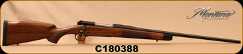 "Montana Rifle Company - 300WinMag - American Legends Rifle (ALR) - AA Grade Turkish Walnut/Chromoly blued steel, 24"", #2D Contour Barrel, recessed crown, 1:10""Twist, SKU# 811563023746, S/N C180388"