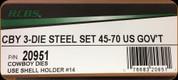 RCBS - 3 Die Steel Cowboy Set - 45-70 US Gov't - 20951