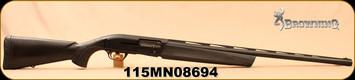 "Used - Browning - 12Ga/3.5""/28"" - Maxus Stalker - Semi-Auto - Black Synthetic/Matte Black, Lightning Trigger, Speed Lock Forearm, Mfg# 011600204 - In Box"