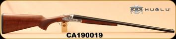 "Huglu - 28Ga/2.75""/26"" - 200AC - SxS - Select Turkish Walnut/Silver Grade 5 Hand Engraved Receiver/Blued Barrels, 5pc. Chokes, SKU# 8682109400183, S/N CA190019"