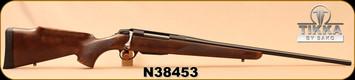 """Tikka - 30-06Sprg - T3x Forest - Walnut Stock w/roll-over cheek piece/Blued, 22.4""""Barrel, 1:11""""Twist, Mfg# TF1T31S6103, S/N N38453"""