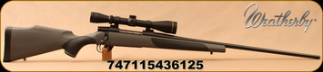 "Weatherby - 6.5-300Wby - Vanguard Leupold VX2 Package - Bolt Action Rifle - Black w/Grey Griptonite Stock/Matte Blued, 26""Barrel, 3-9x40mm, Duplex reticle, Mfg# VLP653WR6O"