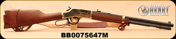 Consign - Henry - 357Mag/38Spl - Big Boy Classic - Lever Action - Select American Walnut Straight-Grip Stock/Brass Receiver/Blued, 20? octagonal barrel, Mfg# H006M, c/w Sling & Bandolier, Skinner peep sight, Henry Brand asst. Cleaning products - New,