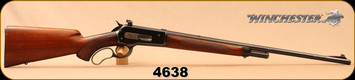 """Consign - Winchester - 348WCF - Model 71 High Grade - Lever Action - Walnut Stock/Blued, 24""""Barrel, 1936 2nd year production, Long Tang, c/w Redfield Krag Aperture sight"""
