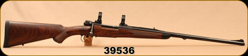 "Consign - Griesbach Custom - 9.3x62 - M98 - Walnut Stock/Blued, 22.5""Bob Jury Barrel, 1/2 round-1/2 Octagonal, custom made bases & Talley rings, 2-position (Win 70 style)safety,  - Only 150 rounds fired"