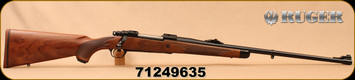 """Ruger - 9.3x62 - M77 Hawkeye African - Walnut w/ Ebony Forend Tip/Satin Blued, 24""""Barrel, 1:10""""Twist, Mfg# 47195, S/N 71249635"""