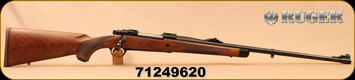 """Ruger - 9.3x62 - M77 Hawkeye African - Walnut w/ Ebony Forend Tip/Satin Blued, 24""""Barrel, 1:10""""Twist, Mfg# 47195, S/N 71249620"""