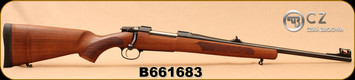 "CZ - 308Win - 557 Carbine - Bolt Action Rifle - Oil-Finished Turkish Walnut stock with cheekpiece/Blued, 20.5""Barrel, 4rd Hinged Floorplate, Fiber Optic Front Sight, Mfg# 04852, S/N B661683"