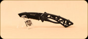 Buck Knives - Bones - Thumbstud - Black Skeletonized Handle - Serrated - Pocket Clip - 0870BKX