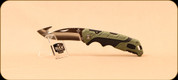 Buck Knives - Pursuit - Nail Notch - Large Folder - Guthook - Black/Green Molded Handle - 3660GRG