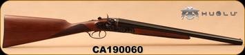 "Huglu - 12Ga/3""/20"" - HRZ - SxS Hammer gun - Turkish Walnut English Grip/Case Hardened/Blued, Chrome-Lined barrels, HRZ Hammer, SKU# 8681744308946, S/N CA190060"