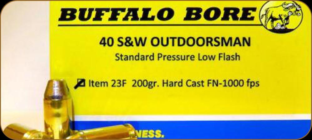 Buffalo Bore - 40 S&W - 200 Gr - Outdoorsman Standard