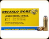 Buffalo Bore - 44 Magnum - 240 Gr - Lower Recoil - Jacketed Hollow Point - 20ct - 4G