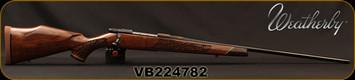 "Weatherby - 257WbyMag - Vanguard Lazerguard - AA-grade Claro Walnut, Lazer engraved w/traditional oak leaf pattern/Blued, 24""Barrel, #2 Contour, Adjustable Match Quality, Two-stage Trigger, 1:10"", Mfg# VGZ257WR6O, S/N VB224782"