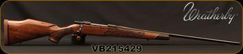 "Weatherby - 300WbyMag - Vanguard Lazerguard - AA-grade Claro Walnut, Lazer engraved w/traditional oak leaf pattern/Blued, 26""Barrel, #2 Contour, Adjustable Match Quality, Two-stage Trigger, 1:10"", Mfg# VGZ300WR6O, S/N VB215429"