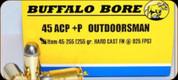Buffalo Bore - 45 ACP+P - 255 Gr - Outdoorsman - Hard Case Flat Nose - 20ct - 45255
