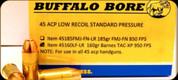Buffalo Bore - 45 ACP - 160 Gr - Low Recoil Standard Pressure - Barnes TAC-XP - 20ct - 45160LFLR