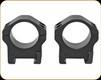 "Warne - Maxima Horizontal - Fixed Steel Rings - 1"" - Med - Matte Black - 501M"