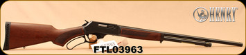 "Henry - 410Ga/2.5""/24"" - Lever Action Shotgun - American Walnut Stock/Blued Finish, 5 Round Capacity, Fully Adjustable Semi-Buckhorn With Diamond Insert Rear Sight, Mfg# H018-410, S/N FTL03963"