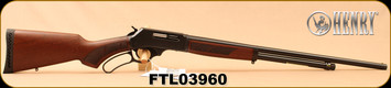 "Henry - 410Ga/2.5""/24"" - Lever Action Shotgun - American Walnut Stock/Blued Finish, 5 Round Capacity, Fully Adjustable Semi-Buckhorn With Diamond Insert Rear Sight, Mfg# H018-410, S/N FTL03960"