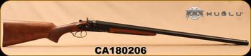 "Huglu - 12Ga/3""/30"" - 201HRZ - SxS - Turkish Walnut/Case Hardened/Blued, Double Trigger, 5pc. Ventus Mobile Choke, SKU# 8681715392240, S/N CA180206"