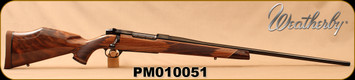 """Weatherby - 6.5-300WbyMag - Mark V Deluxe - AA fancy grade Claro walnut Monte Carlo stock w/rosewood caps & Maplewood spacers/High Lustre Blued, 26""""Barrel, LXX Trigger, Mfg# MDXM653WR6O, S/N PM010051"""